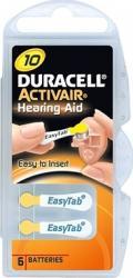 Baterie Duracell pentru aparat auditiv ZA 10 6buc