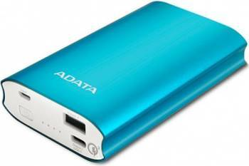 Baterie Externa Adata A10050QC Power Bank 10050mAh Quick Charge Albastru Baterii Externe