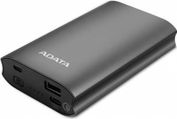 Baterie Externa Adata A10050QC Power Bank 10050mAh Quick Charge Titanic Baterii Externe
