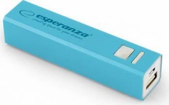 Baterie externa Esperanza ERG 2400 mAh Blue