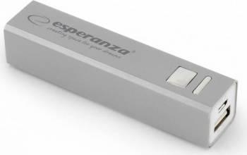 Baterie Externa Esperanza Erg 2400mAh Argintiu