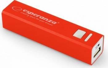 Baterie Externa Esperanza Erg 2400mAh Rosu Baterii Externe