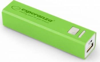 Baterie Externa Esperanza Erg 2400mAh Verde Baterii Externe