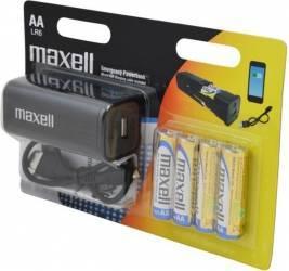 Baterie Externa Maxwell Powerbank Cu 4 baterii Alcaline AA Negru Baterii Externe