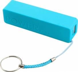 Baterie externa Qoltec 2600mAh Blue Baterii Externe