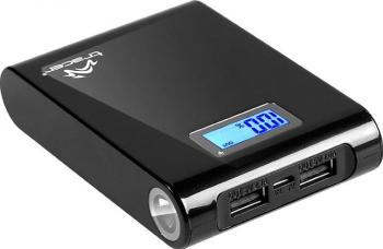 Baterie externa Tracer 10400 mAh Black Baterii Externe