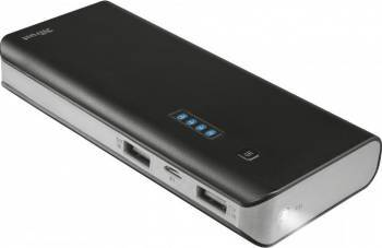 Baterie Externa Trust Primo Powerbank 10000 mAh Black Baterii Externe