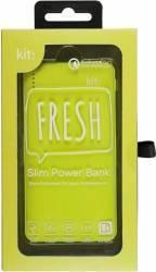 Baterie Externa Universala Kit Fresh 6000 mAh Verde Baterii Externe