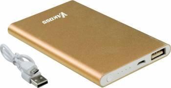 Baterie externa Vakoss Aluminiu 5000mAh Auriu Baterii Externe