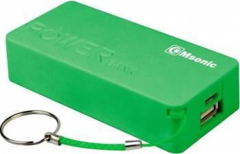 Baterie externa Vakoss Msonic 5000 mAh USB verde Baterii Externe