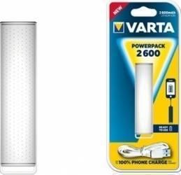 Baterie externa Varta Powerpack 2600mAh White Baterii Externe
