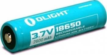 Baterie Olight 3.7V 2600mAh 18650 cu protectie Lanterne si Accesorii
