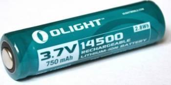 Baterie Olight 3.7V 750mAh 14500 cu protectie.