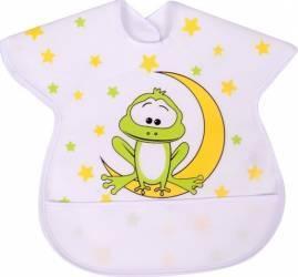 Baveta impermeabila cu protectii pentru umeri Sevi Baby Alb Cani, pahare, accesorii masa