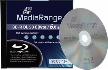 Blue-Ray DL 50GB 6x MediaRange 1 buc MR506