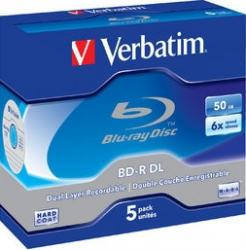 BD-R DL 50GB 6x Verbatim 5 buc set