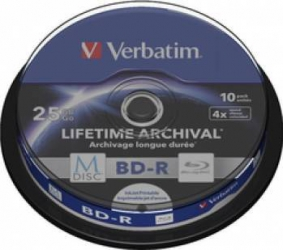 BD-R Verbatim M-DISC BluRay 25GB 4x 10buc CD-uri si DVD-uri
