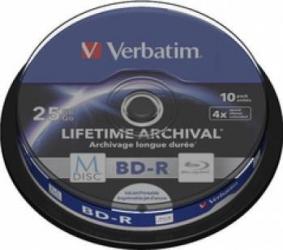 BD-R Verbatim M-DISC BluRay 25GB 4x 10buc CD-uri si DVD-uri
