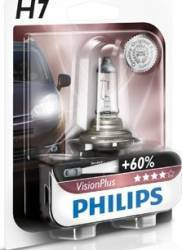 Bec auto cu halogen pentru far Philips H7 12V 55W PX26d Vision Plus Blister Becuri si sigurante auto
