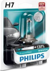 Bec auto pentru far Philips H7 12V 55W PX26d X-treme Vision Plus Blister Becuri si sigurante auto