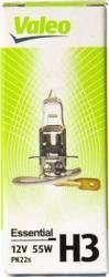 Bec auto cu halogen pentru far Valeo H3 12V 55W PK22s Becuri si sigurante auto