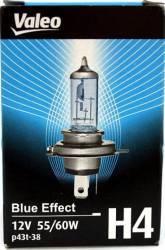 Bec auto cu halogen pentru far Valeo H4 12V 60 55W P43t Blue Effect Becuri si sigurante auto