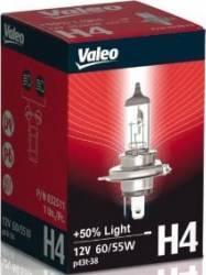 Bec auto cu halogen pentru far Valeo H4 12V 60 55W P43t PLUS 50 Becuri si sigurante auto