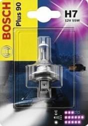 Bec auto far Bosch H4 12V 60 55W P43t Plus 90 Blister Becuri si sigurante auto