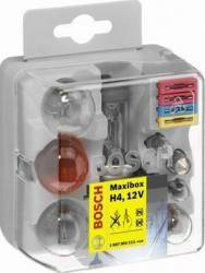Set becuri auto Bosch Maxibox H4 Becuri si sigurante auto
