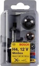 Set becuri auto Bosch Minibox H4 Becuri si sigurante auto