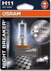 Bec auto Osram H11 12V 55W PGJ19-2 Night Breaker Unlimited Blister Becuri si sigurante auto