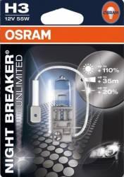 Bec auto Osram H3 12V 55W PK22s Night Breaker Unlimited Blister
