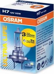 Bec auto Osram H7 12V 55W PX26d Ultra Life Becuri si sigurante auto