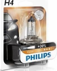 Bec auto Philips H4 12V 60 55W P43t Premium Blister