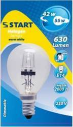 Bec halogen Clasic P HALO-E-SAFE BALL E14 42W - START Becuri