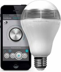 Bec inteligent LED RGB cu functie de boxa bluetooth alb Becuri inteligente