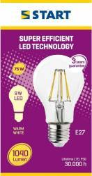 Bec LED Start, E27, 9W, 1040 lm, A++, lumina calda Becuri