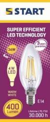 Bec LED Clar Clasic B (C35) Decor 4W E14 2700K 400lm START Becuri