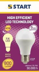 Bec LED Mat Clasic A (A60) 9W E27 60W 2700K 800lm START Becuri