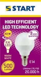 Bec LED MAT, CLASIC P, START, 500lm Becuri