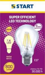 Bec LED Start, E27, 7W, 800 lm, A++, lumina calda Becuri