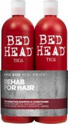 Set Tigi Bed Head Rehab Resurrection Shampoo + Conditioner Salon Size