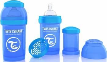 Biberon Anti-Colici Twistshake 180 ml Albastru Biberoane, tetine si accesorii