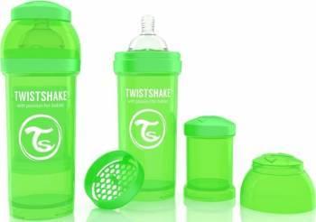 Biberon Anti-Colici Twistshake 260 ml Verde Biberoane, tetine si accesorii