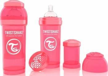Biberon Anti-Colici Twistshake 260 ml Piersica Biberoane, tetine si accesorii