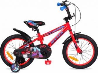 Bicicleta Copii Byox 16 Monster Rosu Biciclete pentru copii
