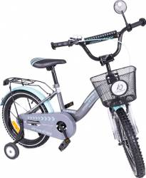 Bicicleta copii MyKids Toma Exclusive 1604 Turquoise