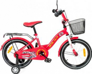 Bicicleta copii MyKids Toma Fire Station Red 16