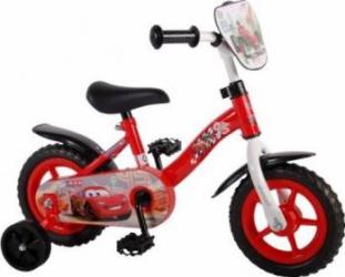 Bicicleta copii Volare Cars cu roti ajutatoare 10 INCH Masinute si vehicule pentru copii