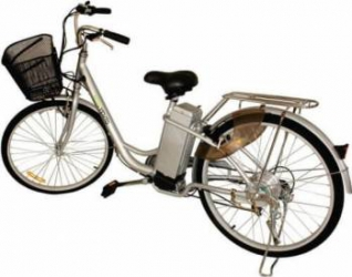 Bicicleta electrica Nova Vento Clasic L26A Silver 250W Baterie 24V12Ah roti 26 Vehicule electrice